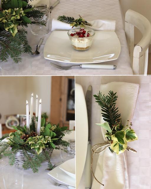 Daisy garden white christmas together decorazioni per - Decorazioni tavola natale ...