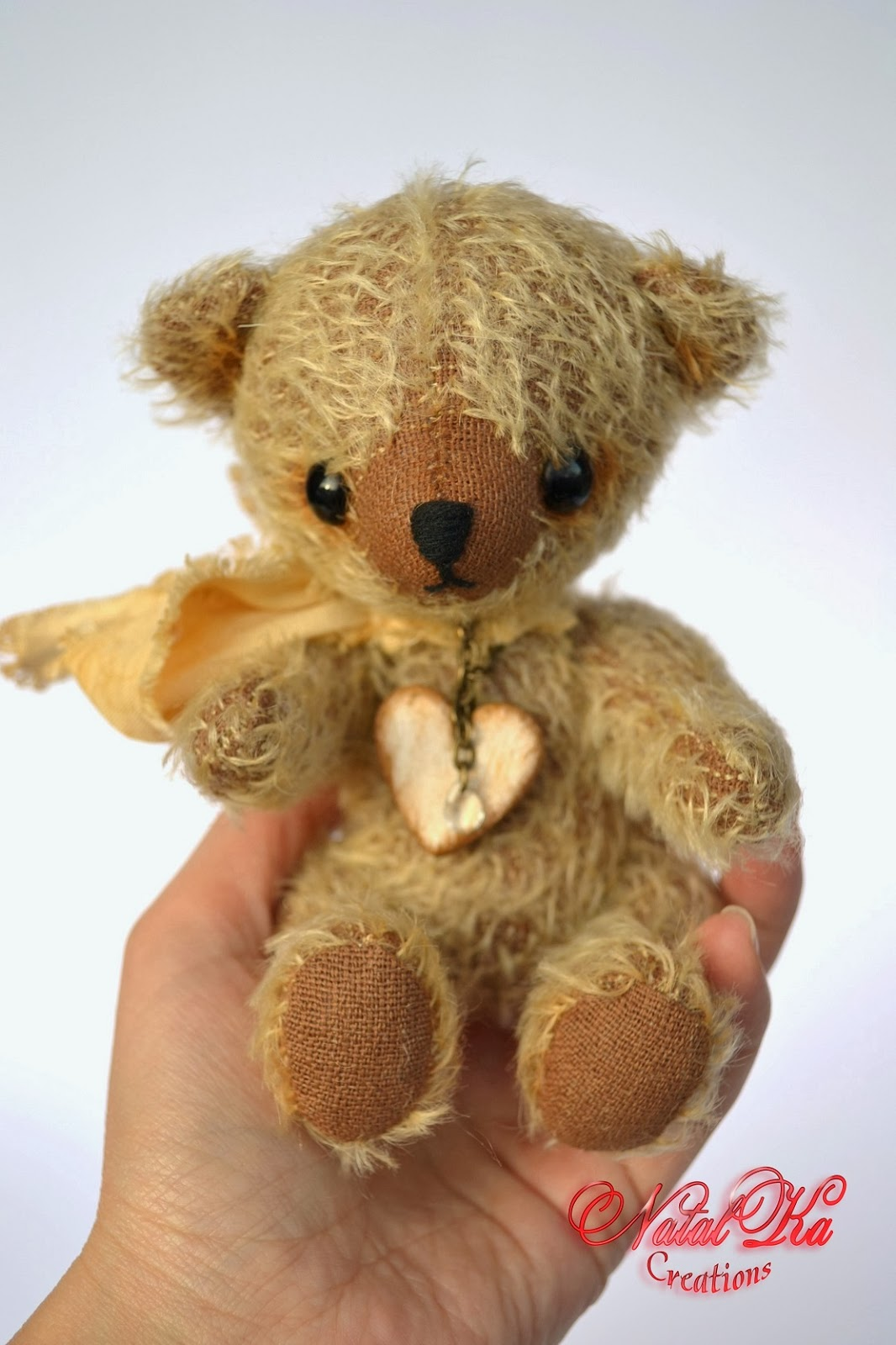 Artist teddy bear handmade by NatalKa Creations