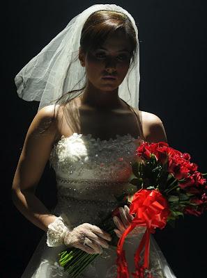 sana khan in wedding dress hot images