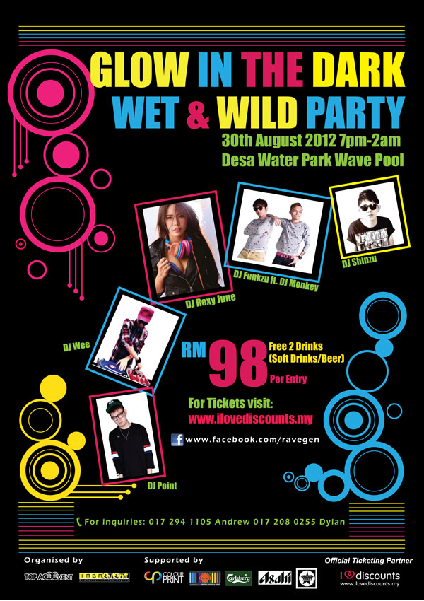 Glow In The Dark Wet Party Merdeka Eve @ Desa Waterpark