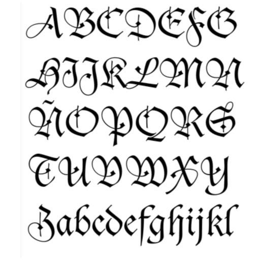 Dibujos con letras goticas imagui for Estilos de letras