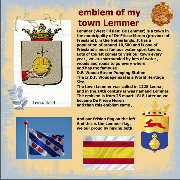 June 2016 emblem of my town Lemmer