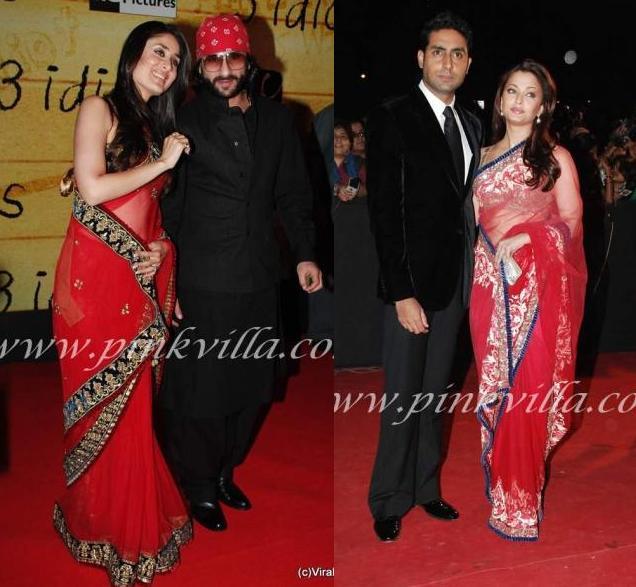 bollybreak_com_akar1 -  Aishwarya Rai Kareena Kapoor in Same Red Saree