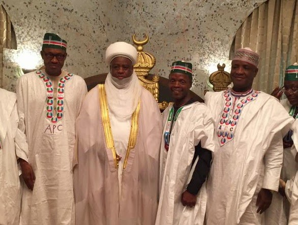 Buhari Identifies Nigeria's Three Fundamental Problems(General Muhammadu Buhari, Sultan of Sokoto, Professor Yemi Osinbajo)
