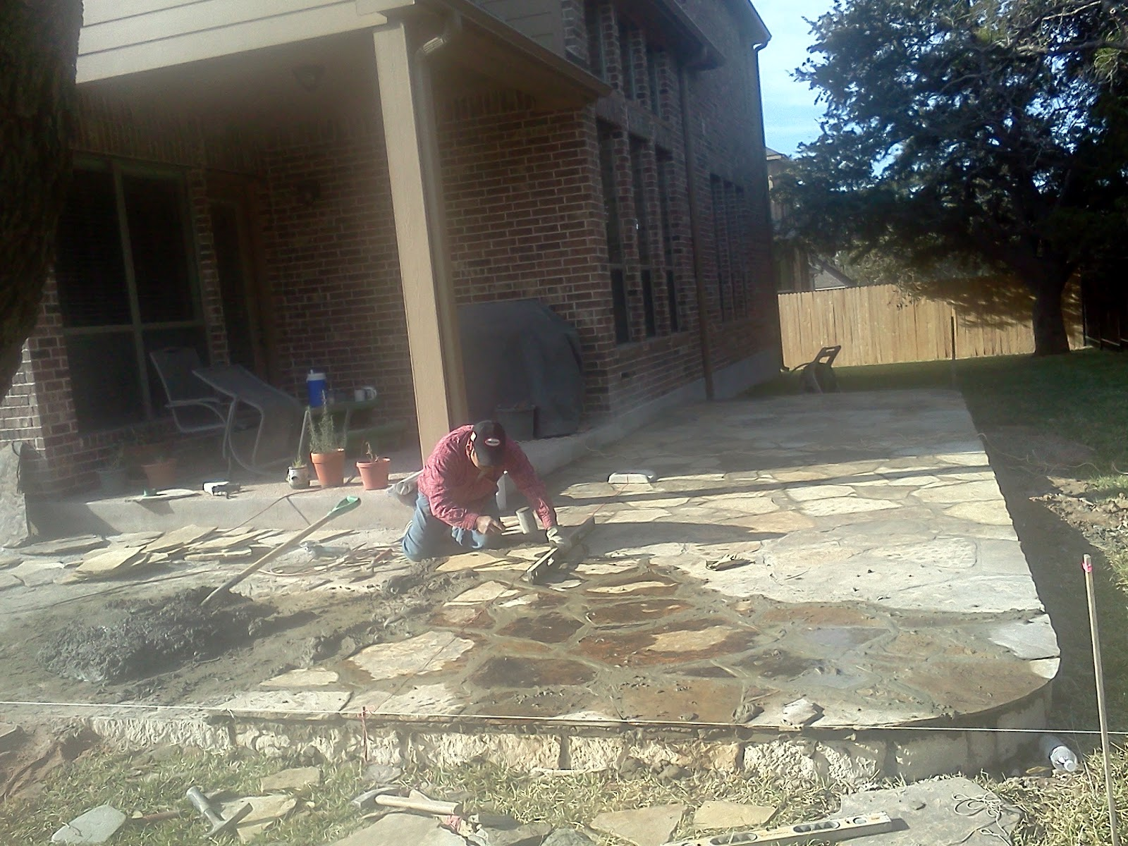 Patio Stone Construction