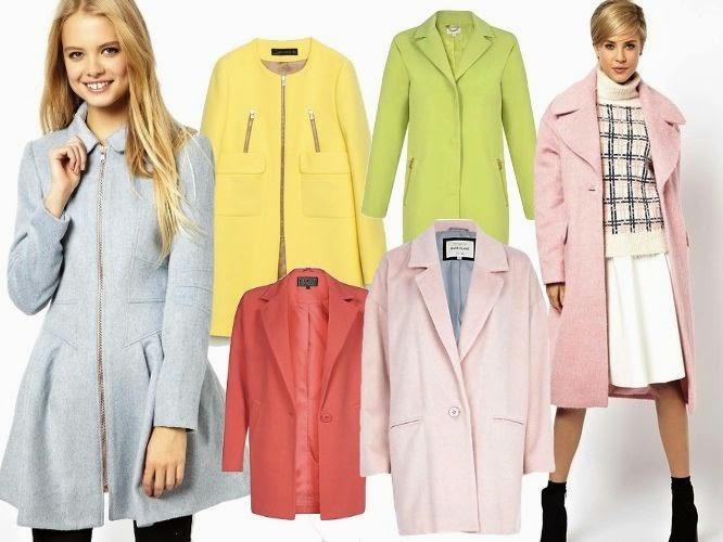 pastelowe płaszcze