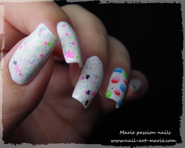 Nail Art Bulles d' aquarelle8
