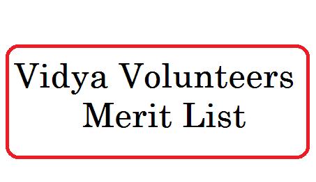 Vidya Volunteers Nerit List