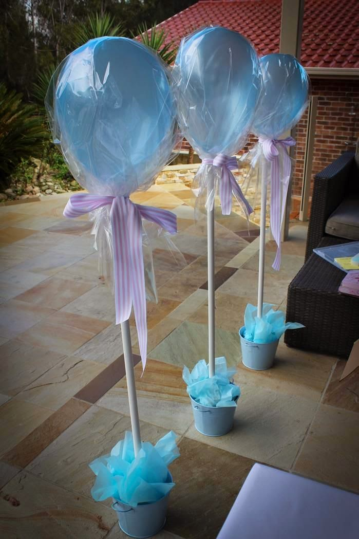 Fun 39 n 39 frolic baby shower decoration ideas for Balloon decoration making