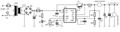 1.3V DC to 12.2V DC <a href='http://www.circuitlab.org/search/label/regulator' title='regulator circuits'>regulator</a> Power Supply