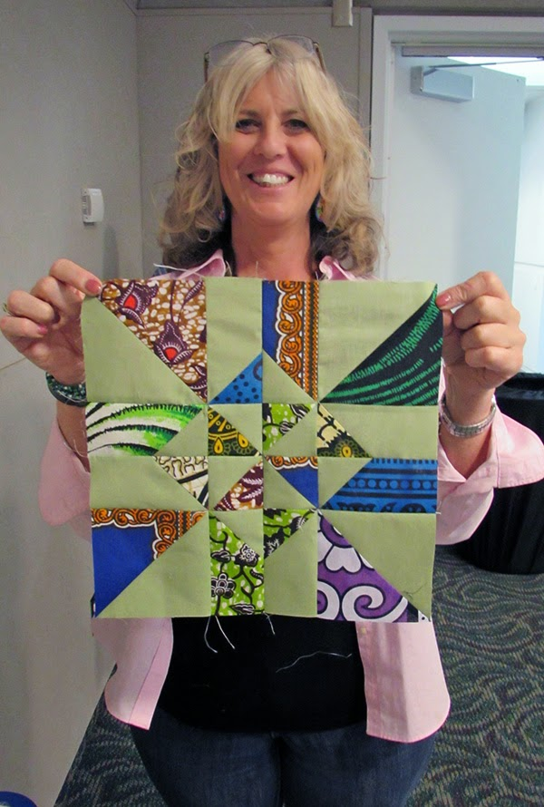 happy quilter making the Chopped quilt pattern
