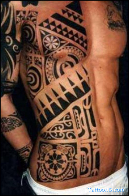 Tribal Shoulder Tattoo For Men