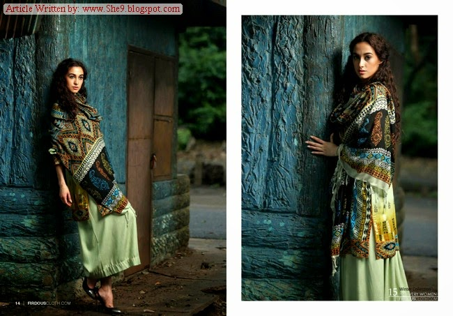 Firdous Winter Pashmina Suit Collection 2014