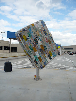 Suitcase sculpture - airport
