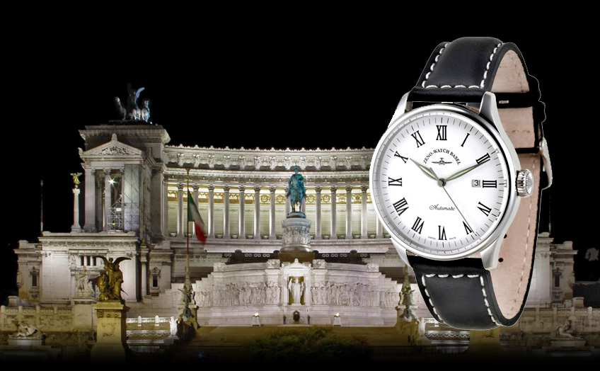 Roma Automatik Uhr mit Lederband
