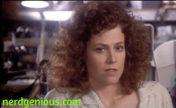 Sigourney Weaver as Dana Barrett, love interest of Bill Murray's Peter Venkman in Ghostbusters