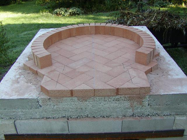 Wood fired oven footnotes for Diy brick floor