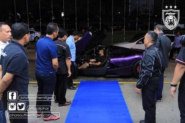 TMJ's New Hybrid Purple Ferrari