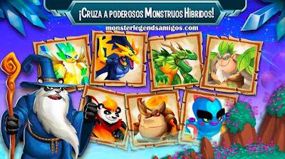 imagen de cruzar dragones hibridos en monster legends ios