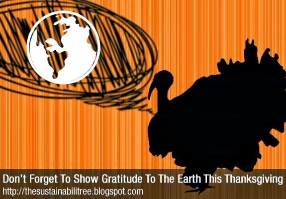A turkey with a speech bubble containing an image of the earth