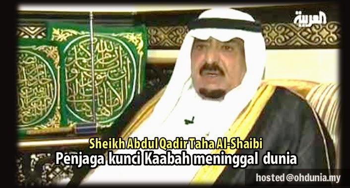 Penjaga Kunci Kaabah, Sheikh Abdul Qadir Taha Al-Shaibi Meninggal Dunia