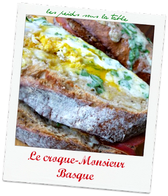 Le croque-Monsieur Basque
