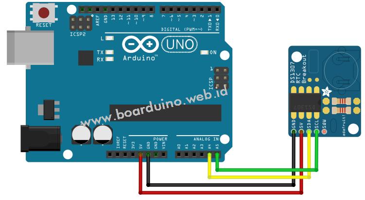 Membuat jam digital dengan arduino dan rtc ds test