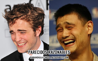 Rob Pattinson y Yao Ming