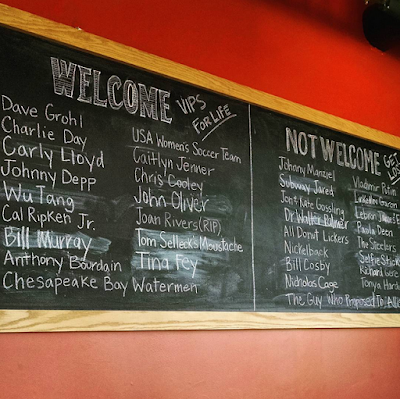 chalkboard welcome sign flying dog brewery frederick maryland