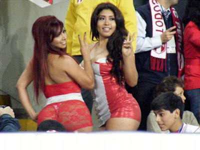 Irina Grandez del aguila Daysi Araujo Daysi Araujo e Irina Grandez calentaron el Perú Venezuela.