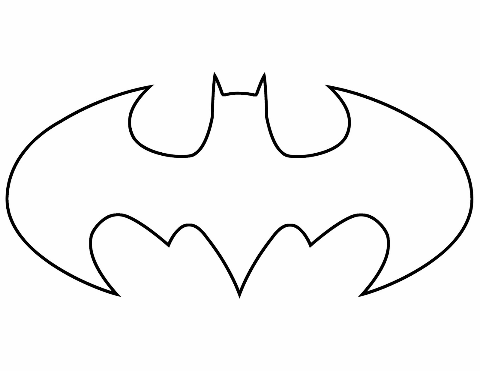 coloring pages batman printable logo - photo#7