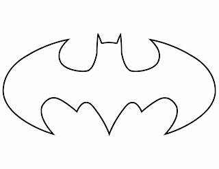 Batman Symbol Coloring Page