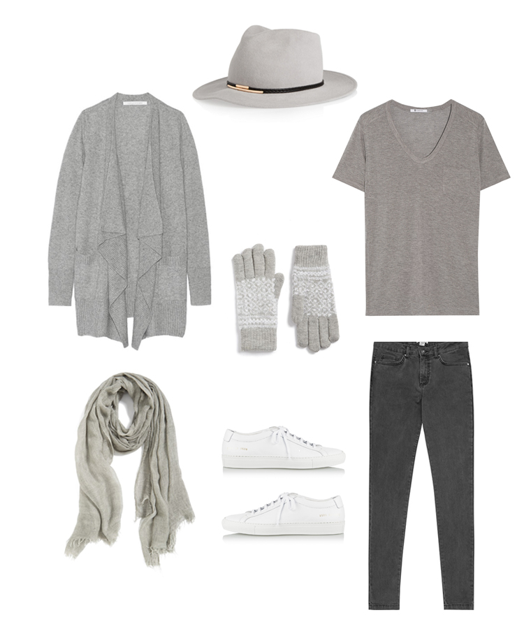 holiday travel outfit: all grey 2015