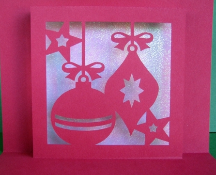 Crafty Card Christmas Balls Are Easy To Make With
