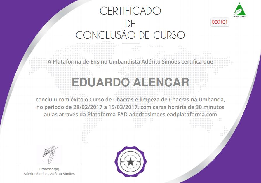 Certificado: Chacras