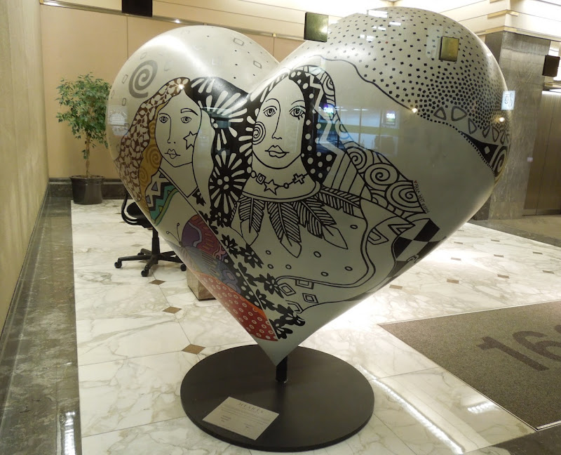 Be Inspired Hearts San Francisco sculpture Paula Best