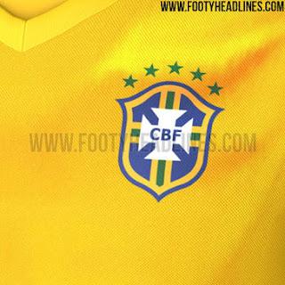 jual online grade ori jersey copa amerika Detail Gambar jersey Brasil home terbaru Copa Amerika 2015
