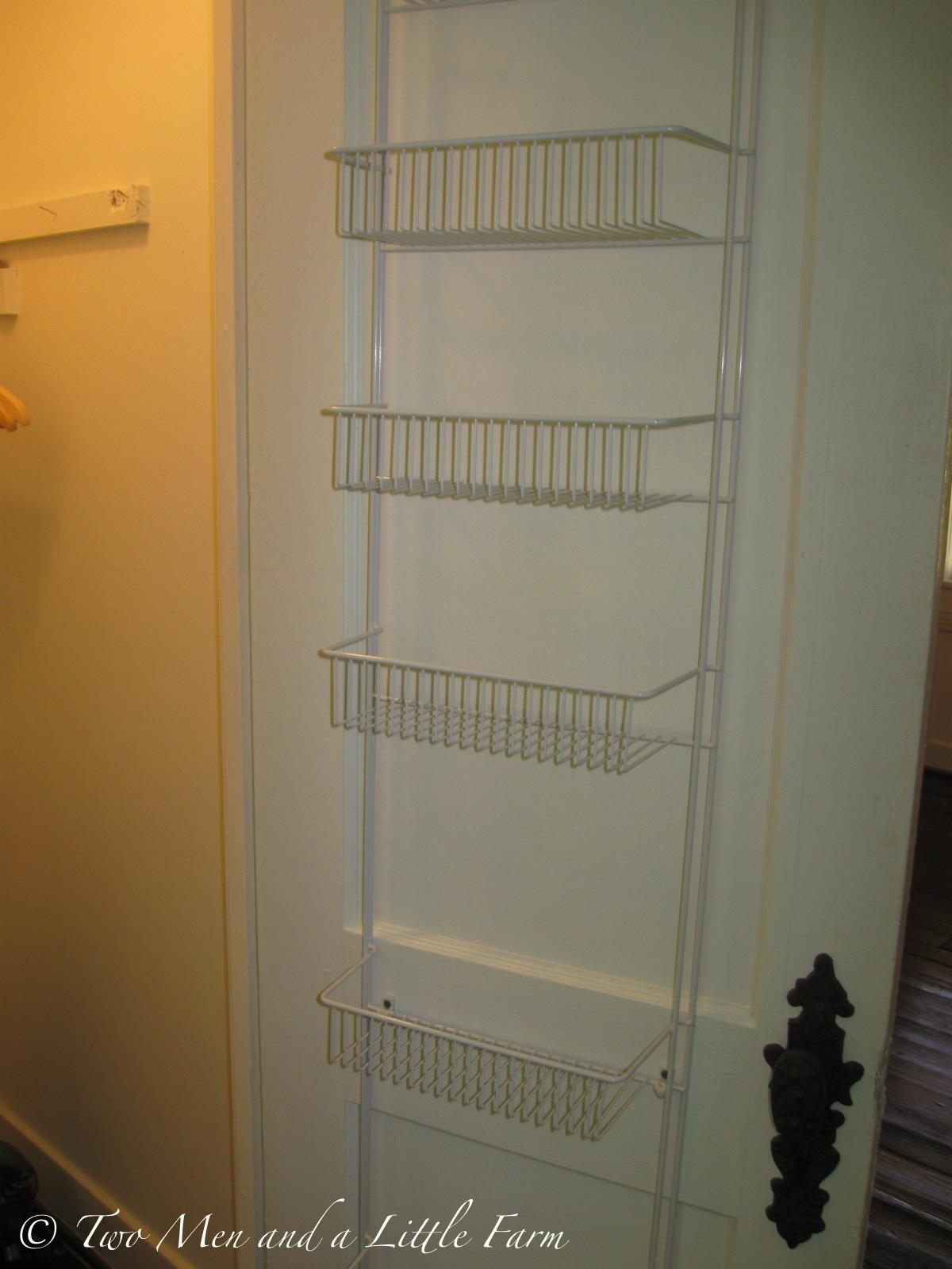 door mounted storage rack