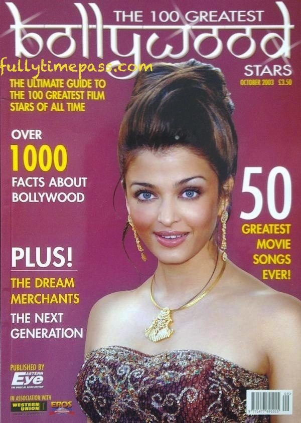 Aishwarya Rai Bachchan cover on 100 Greatest Bollywood Stars