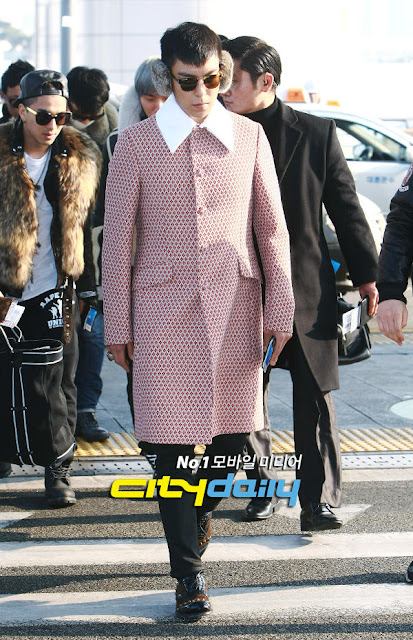 Big Bang T.O.P airport fashion 121214, Prada
