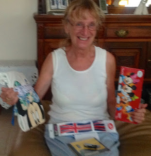 grandma opening parcel from parcel2go