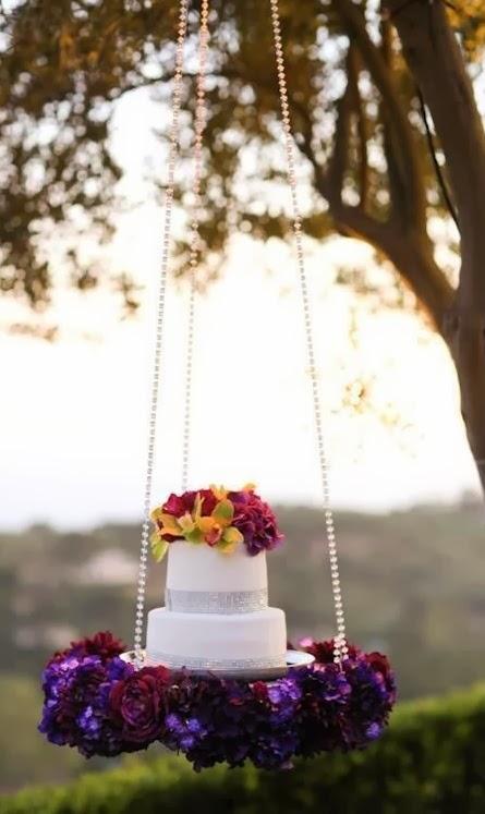 Resultado de imagem para bolo suspenso para casamento