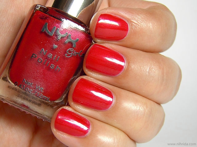 NYX Girls Nail Polish in Pure Red Pearl