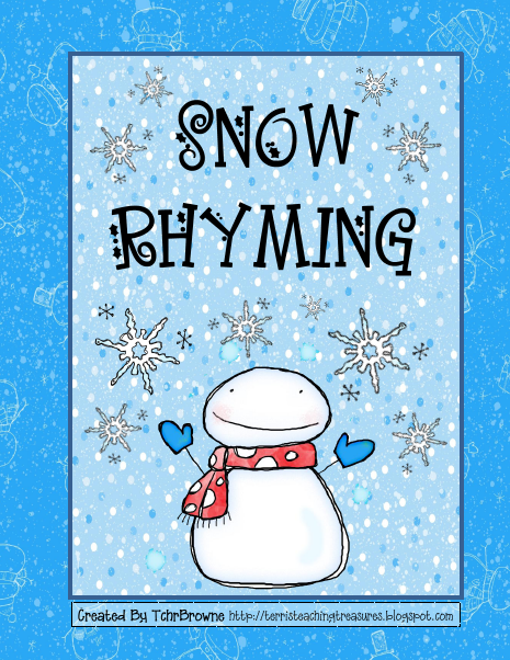 Terris Teaching Treasures Free Snow Rhyming Activity