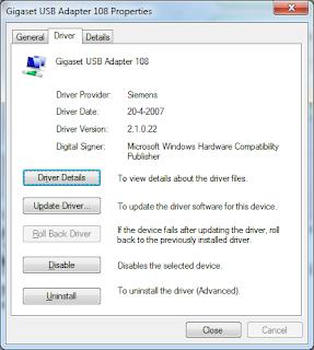 Siemens Gigaset USB adapter (win 7) - Microsoft Community