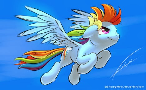 Rainbow Dash was also practicing a bit, and trying some different tech...