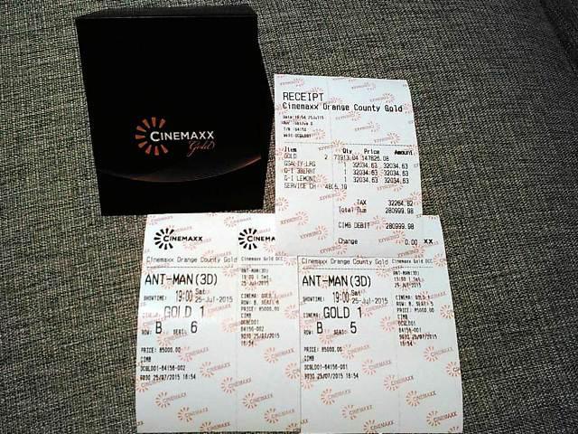 Menikmati Cinemaxx Gold di Orange County, Cikarang | o2-fresh