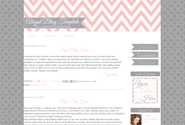 Cute Premade Blog Template
