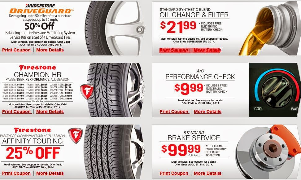 Discount coupons firestone
