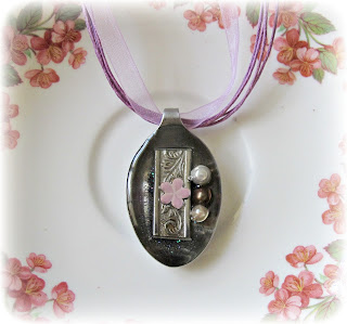 image spoon pendant necklace purple resin delicious designz get spooned